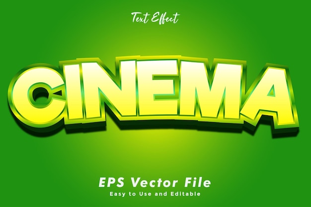 Moderne kino-texttypografie-effektschablone