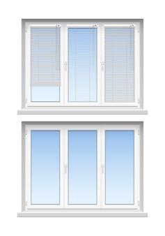Moderne klassische weiße jalousien für die inneneinrichtung