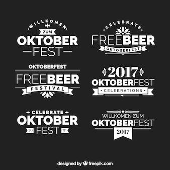 Moderne kollektion von eleganten oktoberfest abzeichen