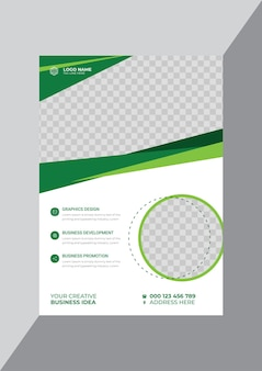 Moderne kreative business-flyer-design-vorlage