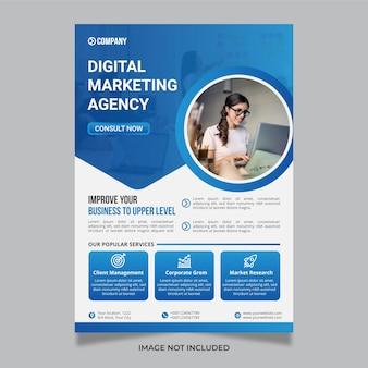 Moderne kreative digitale marketingagentur business flyer vorlage