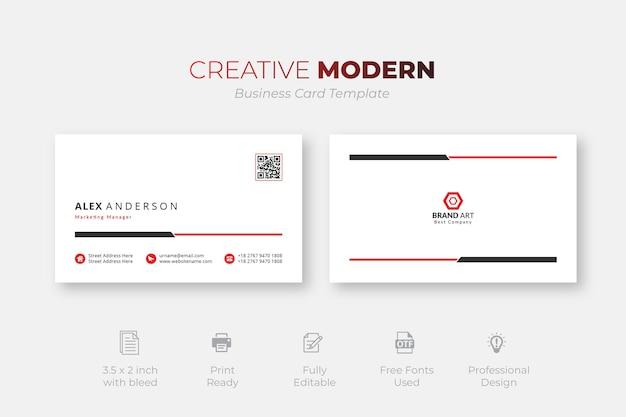 Moderne kreative und saubere visitenkartenvorlage