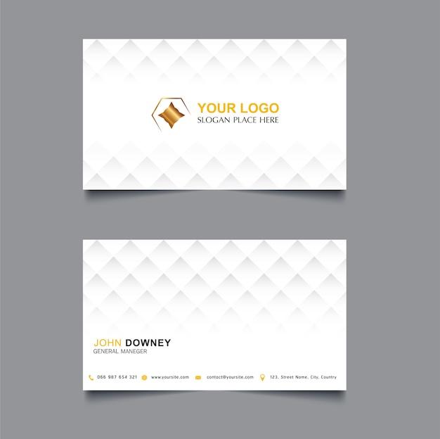 Moderne kreative visitenkarte vorlage doppelseitig