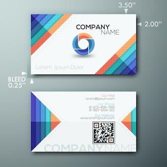 Moderne kreative Visitenkarteschablone