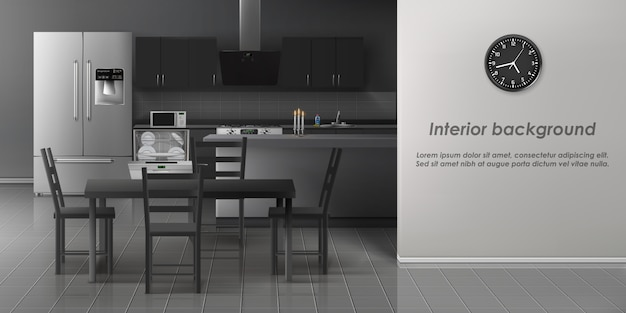 Moderne küche interieur hintergrund