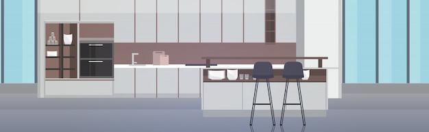 Moderne küche interieur leer keine menschen haus zimmer mit möbeln horizontal