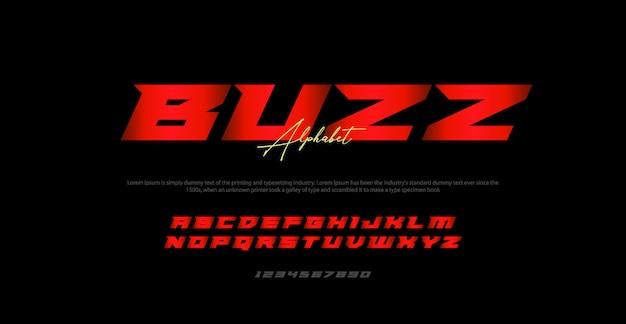 Moderne kursive alphabetschrifttypographie städtisch
