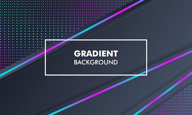 Moderne landschaftssteigungs-hintergrund-neonleuchte