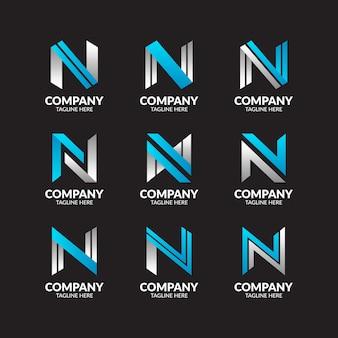 Moderne letter n-logo-sammlung