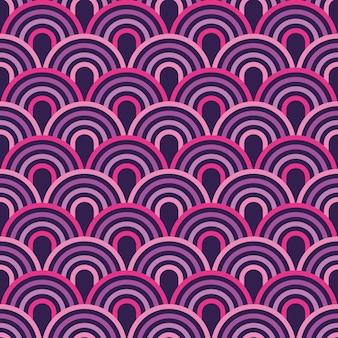 Moderne linie abstraktes geometrisches nahtloses muster der halbkreise.