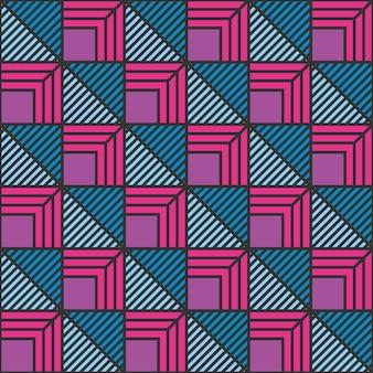 Moderne linie abstraktes geometrisches nahtloses muster.