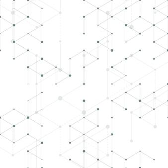 Moderne linie nahtloses muster der kunst mit verbindungslinien. verbindungsstruktur. technologie, digitales netzkonzept
