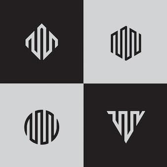 Moderne linienlogos. kreative geometrische formen.