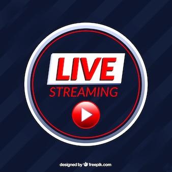 Moderne live-streaming-symbol mit flachem design