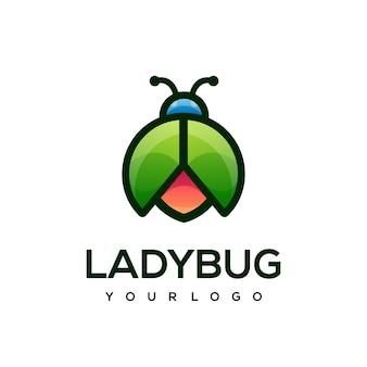 Moderne logo-bunte marienkäfer-designvorlage