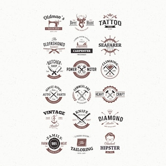 Moderne logo collection