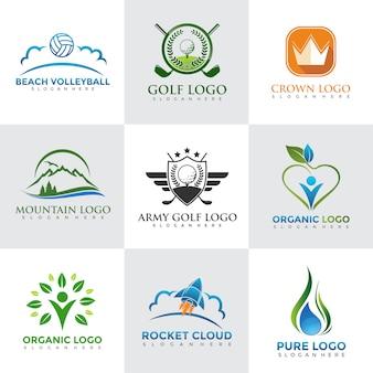 Moderne Logo Design Vorlagen eingestellt