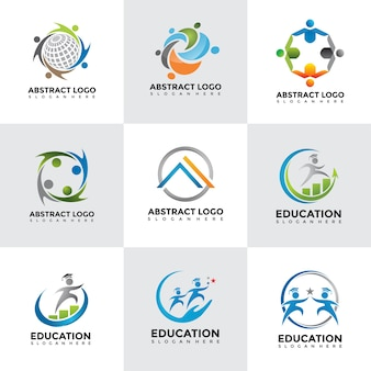 Moderne logo design vorlagen set