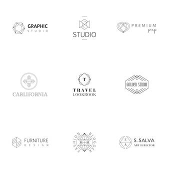 Moderne logo-kollektion