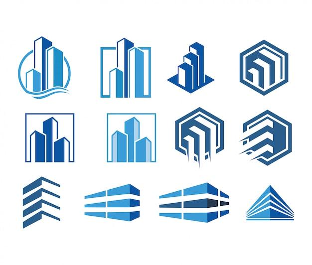 Moderne logo-sammlung vektor immobilien