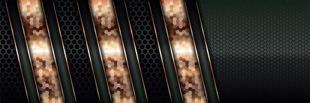 Moderne luxus-hintergrundüberlappungsschichten Premium Vektoren