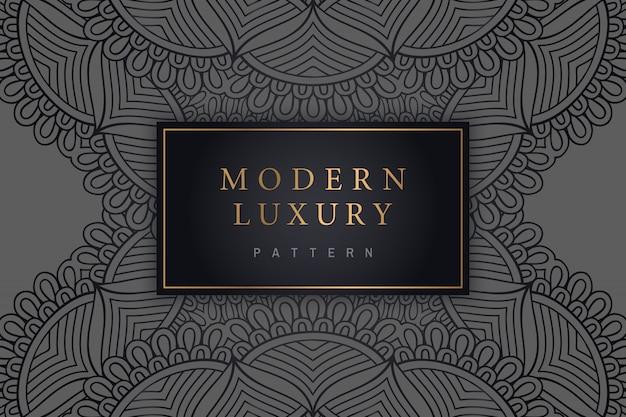 Moderne luxuskarte mit indischer verzierung