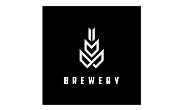 Moderne malt / bier logo inspiration