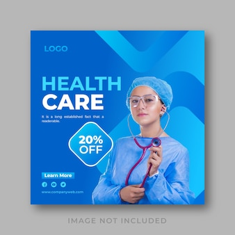 Moderne medizinische business-banner-vorlage