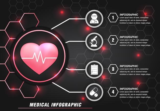 Moderne medizinische info grafikvorlage