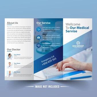 Moderne medizinische Trifold Broschüre