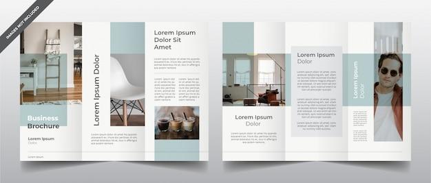 Moderne minimale dreifachgefaltete broschürenschablone