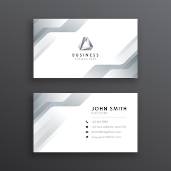 Moderne minimalistische weiße visitenkarte