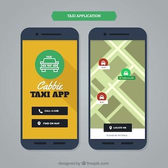 Moderne mobile anwendung für taxi-service