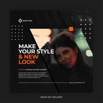 Moderne mode instagram social media post vorlage
