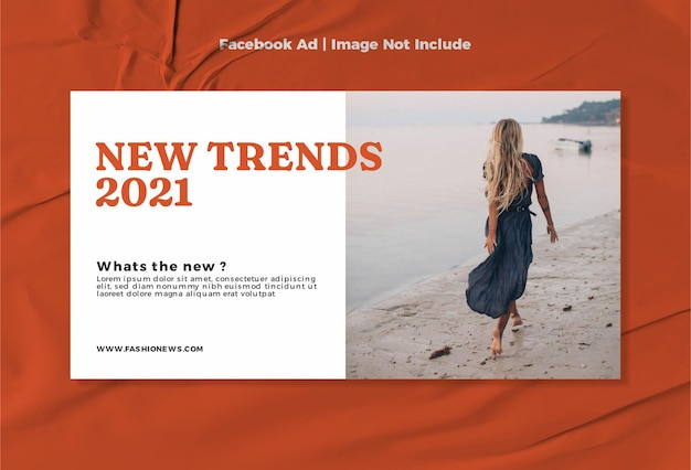 Moderne mode neues design für facebook-anzeigenvorlagen