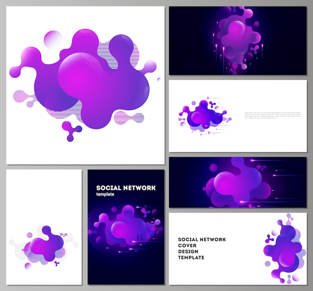 Moderne modelle für soziale netzwerke in gängigen formaten.