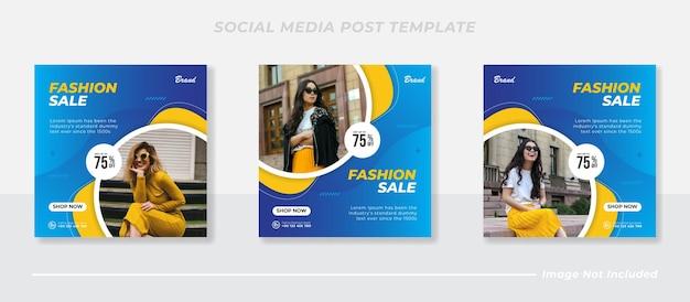 Moderne modeverkauf instagram postvorlage