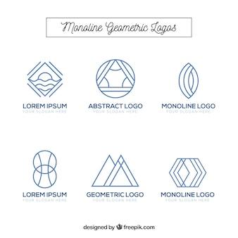 Moderne monoline-logosammlung