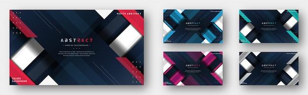 Moderne multi farbzusammenfassungs-hintergrund-schablone