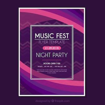 Moderne Musik Fest Flyer Vorlage mit abstrakten Formen