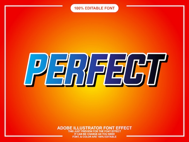 Moderne mutige bearbeitbare typografie-grafikart