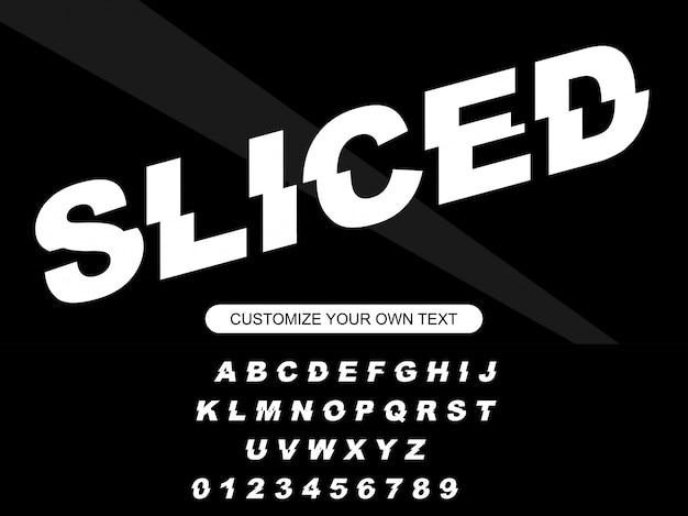 Moderne mutige modische editierbare geschnittene typografie
