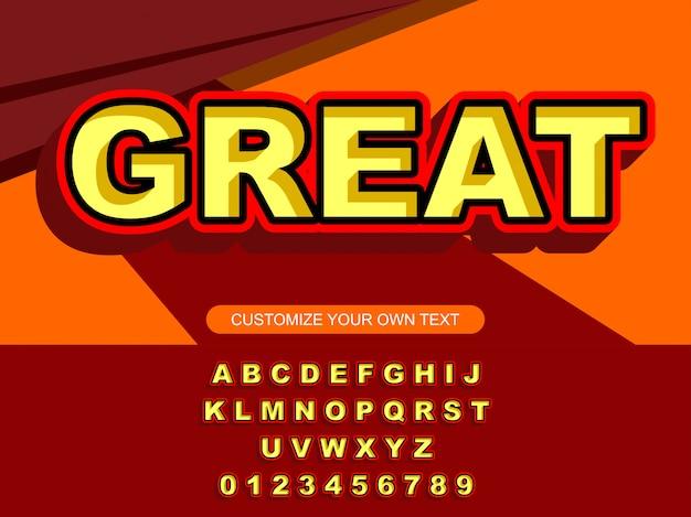 Moderne mutige modische editierbare typografie