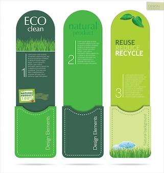 Moderne ökologie designvorlage
