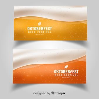 Moderne oktoberfest-banner mit realistischem design