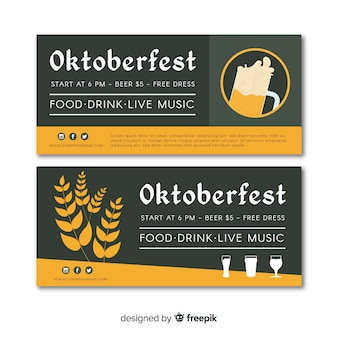 Moderne oktoberfest-banner