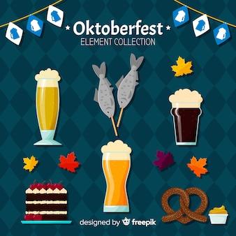 Moderne oktoberfest-elementsammlung