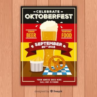 Moderne oktoberfest-plakatschablone