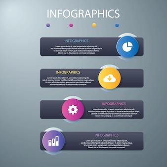 Moderne optionen infografiken vorlage