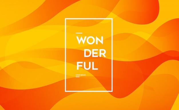 Moderne orange hintergrundvorlage